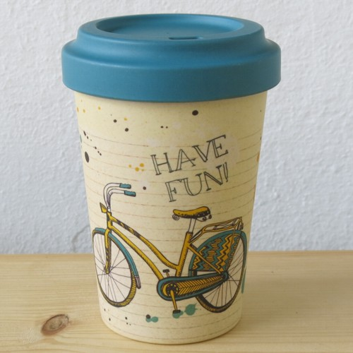 bamboo cup coffee to go becher bambus have fun fahrrad kaffeebecher. Black Bedroom Furniture Sets. Home Design Ideas