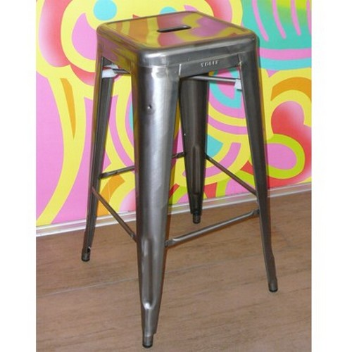 tolix hocker 75 cm brut verni brillant barhocker metall. Black Bedroom Furniture Sets. Home Design Ideas