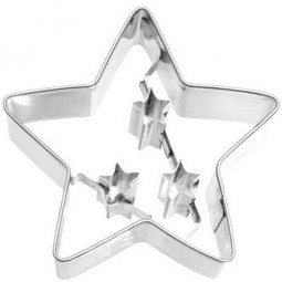 Ausstechform Stern 6,5 cm Ausstecher Weihnachtsstern Birkmann