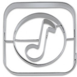 Ausstechform App Music 5 cm Ausstecher Apps Music Städter