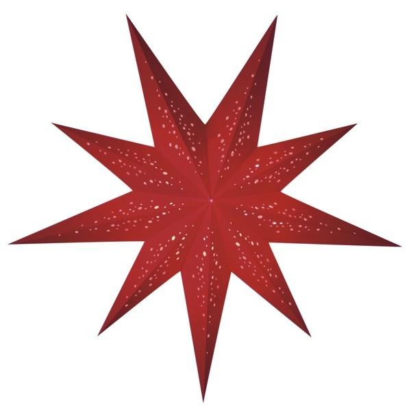 Starlightz Stern Rosso rot 9 zackig Leuchtstern Papier Faltstern