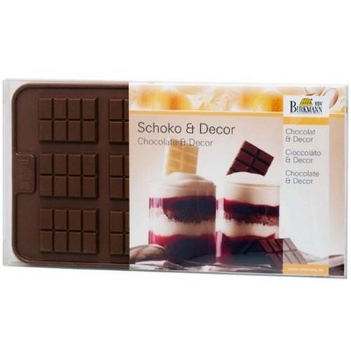 Schokoladenform Dekorform Schokoladentafel Chocolate Bars Silikon Birkmann