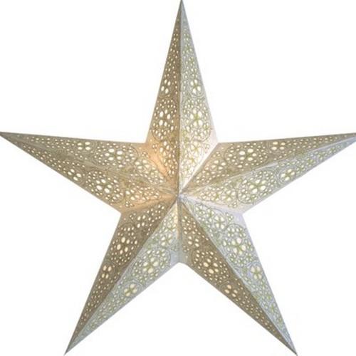 Starlightz Swati weiß Leuchtstern Papier Stern Lampe Weihnachtsstern