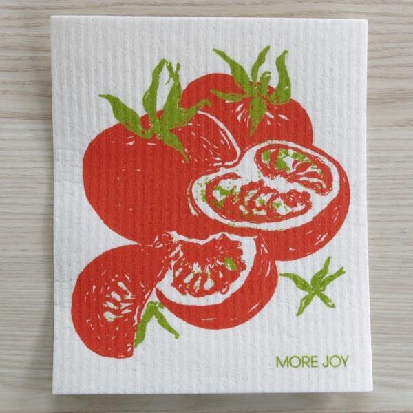 Spüllappen waschbar Tomate More Joy Spültuch Schwammtuch NEWSTALGIE