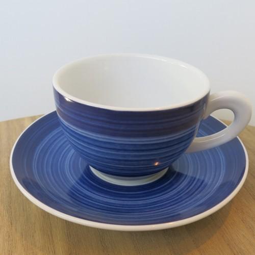 Tirschenreuth Kaffeetasse gewischt Cappuccino Porzellan 2 tlg