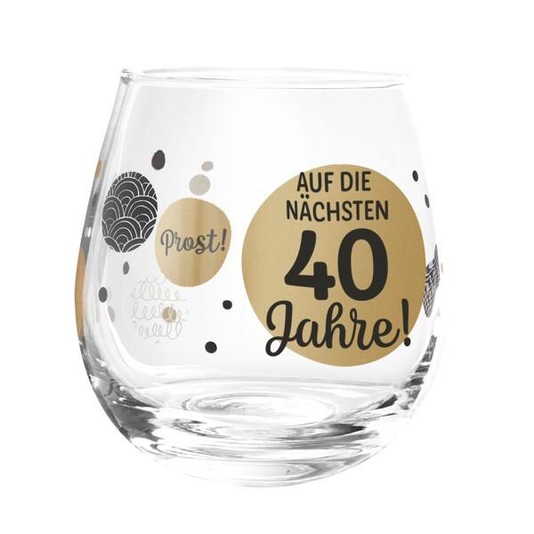 Formano Glas Spruch Auf die nächsten 40 Jahre Geburtstag Prosit Wein Cocktail