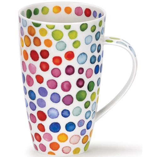 Dunoon Becher Hot Spots 0,6 l Kaffeebecher Teetasse Punkte Porzellan Bone China