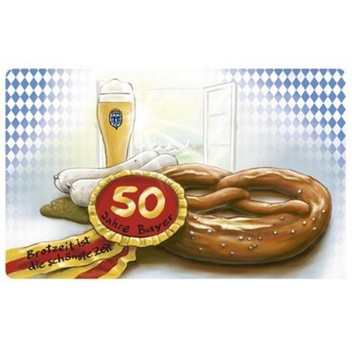 Frühstücksbrettchen 50 Jahre Bayer Geburtstag Brotzeit ist die schönste Zeit