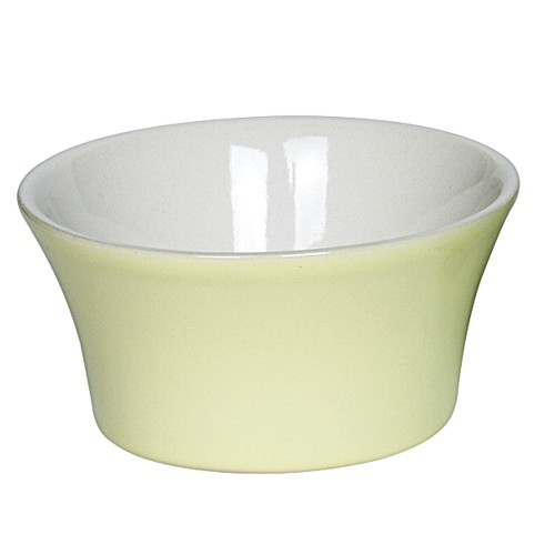 Ragout-Fin Förmchen gelb 9,5 cm 2 Stück Steinzeug Souffle Creme Brulee