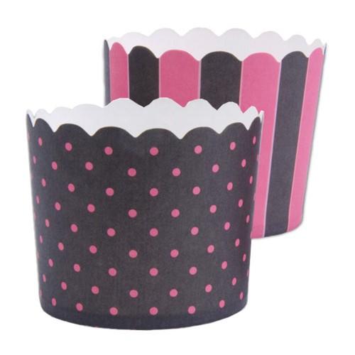 Muffinförmchen Cupcake Papier Cups schwarz pink Muffin Städter 12 Stück
