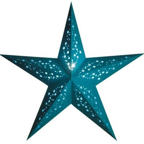 Starlightz Mia türkis Leuchtstern Papier Stern Lampe Weihnachtsstern