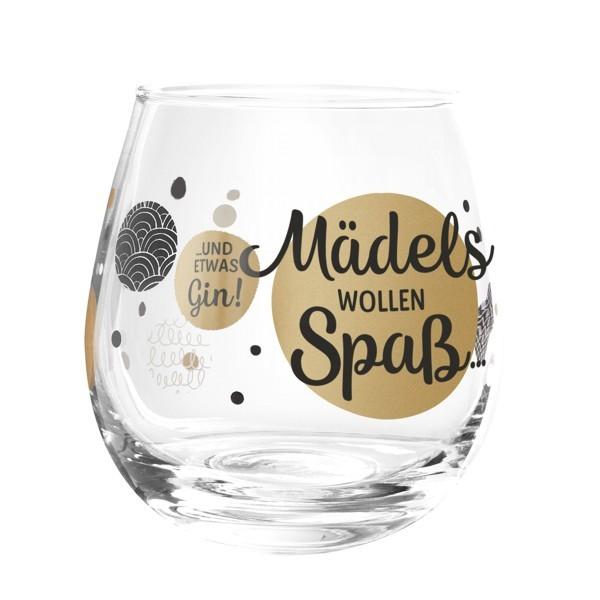 Formano Glas Spruch Mädels wollen Spaß und etwas Prosit Cocktailglas Wein