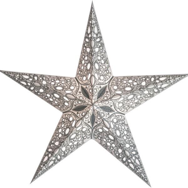 Starlightz Stern Raja silber 60 cm Papierstern Leuchtstern weiß