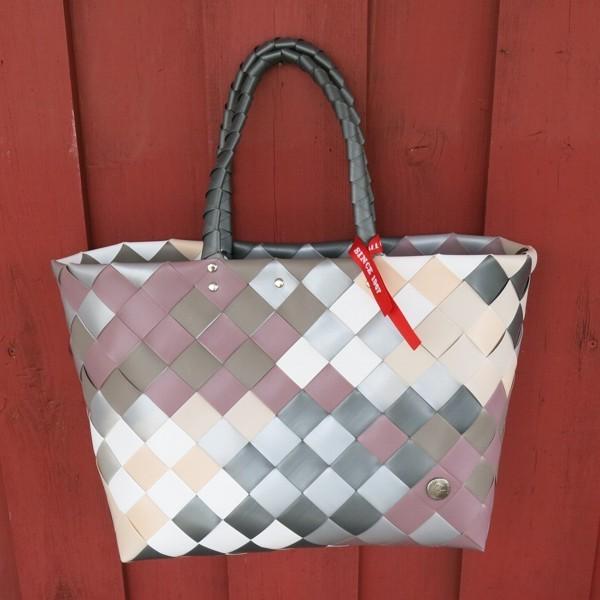 Witzgall ICE BAG Shopper 5017 32 altrosa grau weiß Diagonal Einkaufskorb