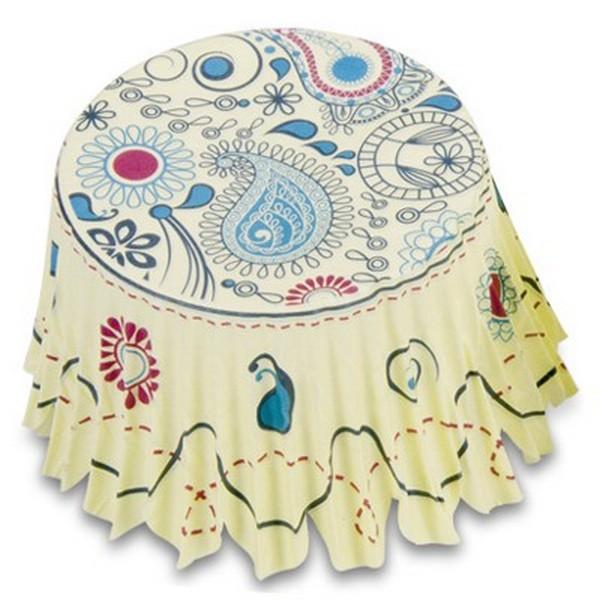 Muffinförmchen Cupcake Papierförmchen Muffin Paisley gelb Städter