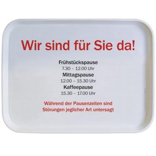 Rannenberg & Friends Tablett Wir sind für Sie da Serviertablett 30 x 21 cm