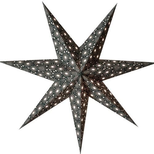Starlightz Leuchtstern Cristal schwarz Stern Papier Weihnachtstern black