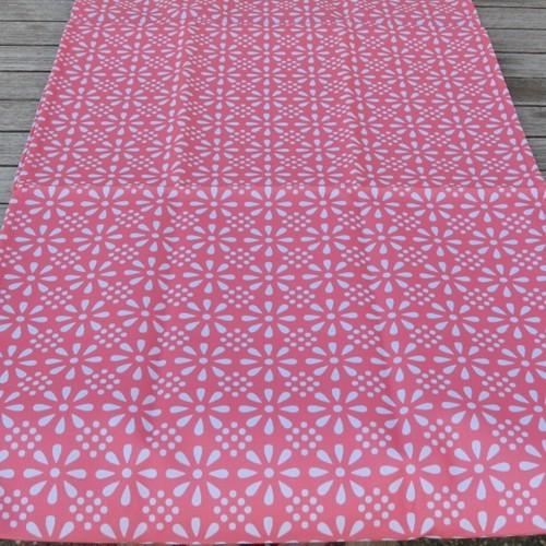 Outdoor Tischläufer rosa dunkel Erdbeere Daisy Flower 40 x 142 cm