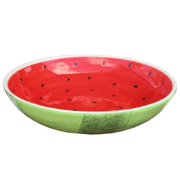 Schale Wassermelone 30 cm Obstschale Melone Steingut Keramik