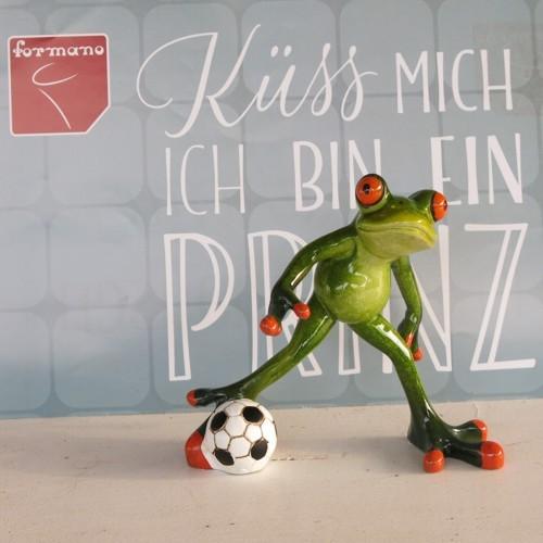 Formano Frosch Fußball Fußballspieler grün glänzend lustig
