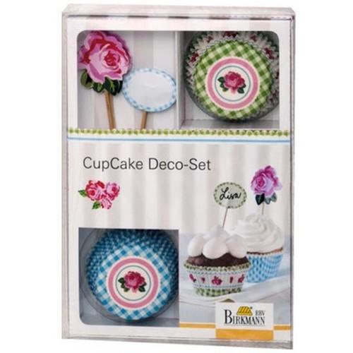Muffinförmchen Cupcake Papierförmchen Muffin Deko Set Rose Birkmann