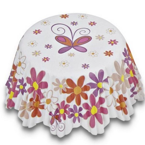 Muffinförmchen Cupcake Papierförmchen Muffin bunte Blumen Städter