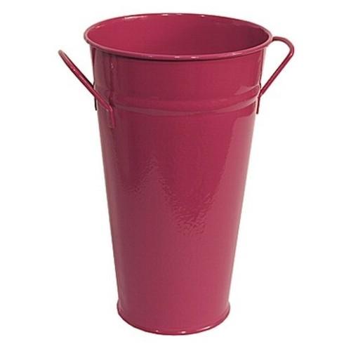 Vase brombeer 37 cm Zink verzinkt Zinkvase Metall Blumenvase