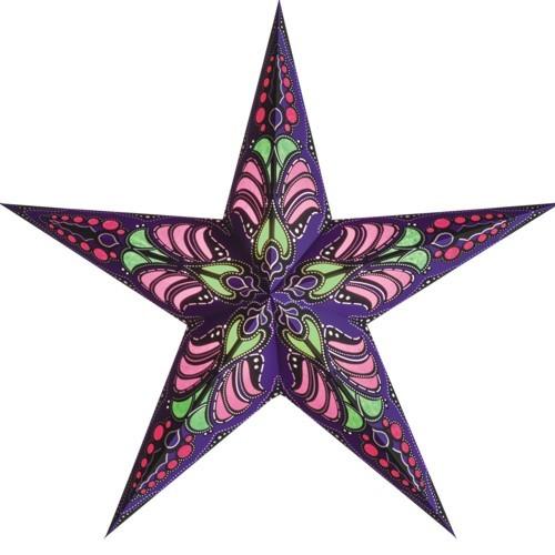 Starlightz Stern Ramadasa violett lila Papierstern Leuchtstern