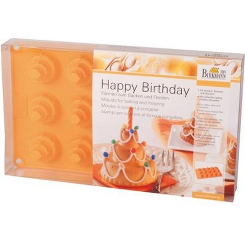 Backform Happy Birthday klein Kuchen Torte Silikon 15 er Birkmann