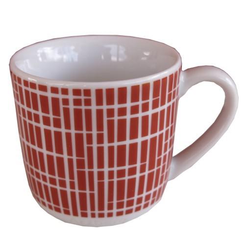 Arzberg Form 1382 Espressotasse rot Bastdekor korallenrot My first Retro 50er Jahre Porzellan