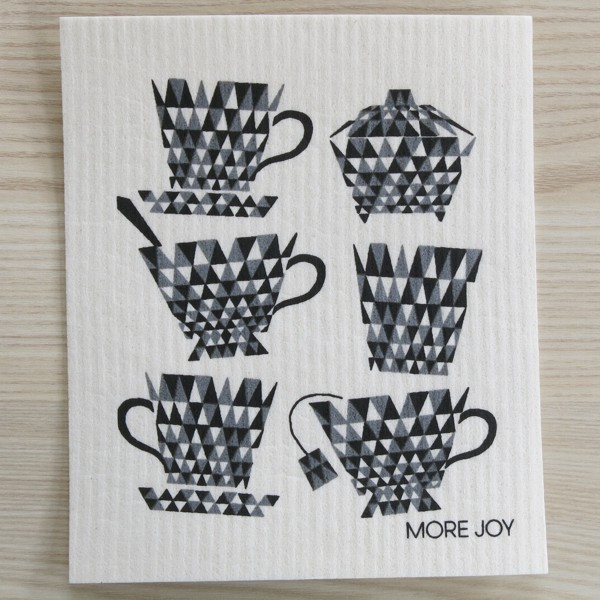 Spüllappen waschbar Teetassen More Joy Spültuch Schwammtuch NEWSTALGIE