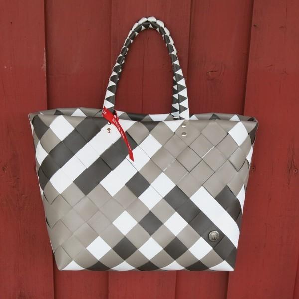 Witzgall ICE BAG Shopper 5017 51 Einkaufskorb taupe braun weiß