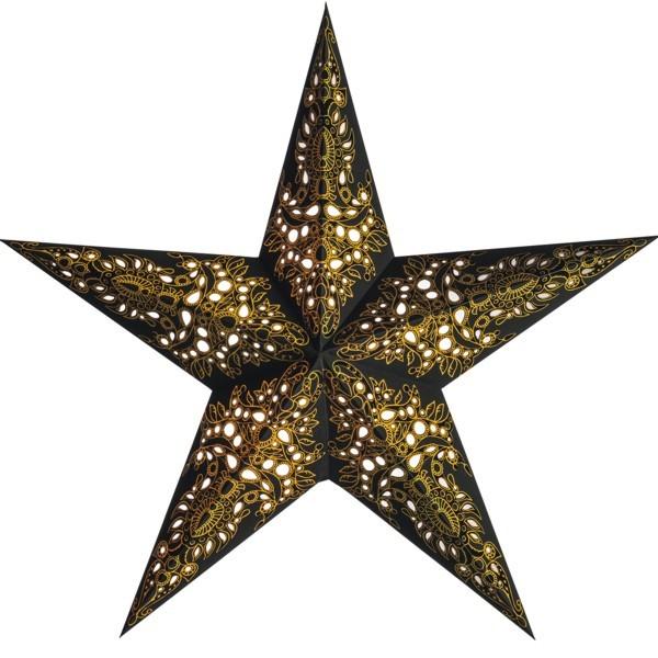 Starlightz Stern Mono schwarz gold 60 cm