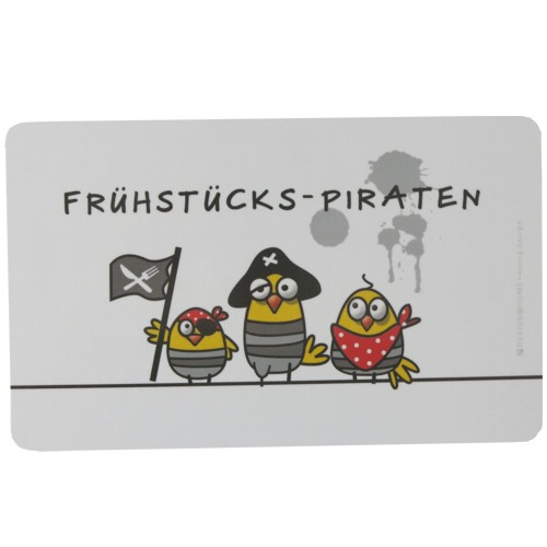 PPD Frühstücksbrettchen Frühstücks-Piraten Pirat Ei Frühstücksei