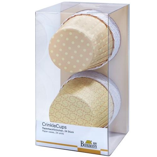 Muffinförmchen Cupcake Papier Cups Crinkle gelb Birkmann 24 Stück
