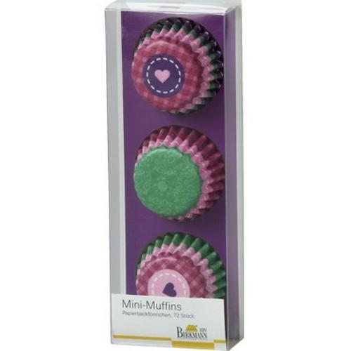 Mini Muffinförmchen Cupcake Papierförmchen Muffin My little bakery rosa grün Birkmann
