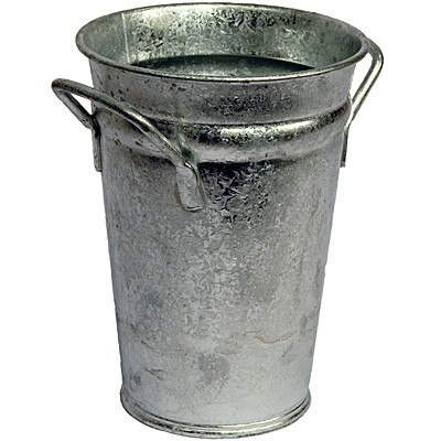 Vase verzinkt 20 cm Zink Zinkvase Metall Blumenvase