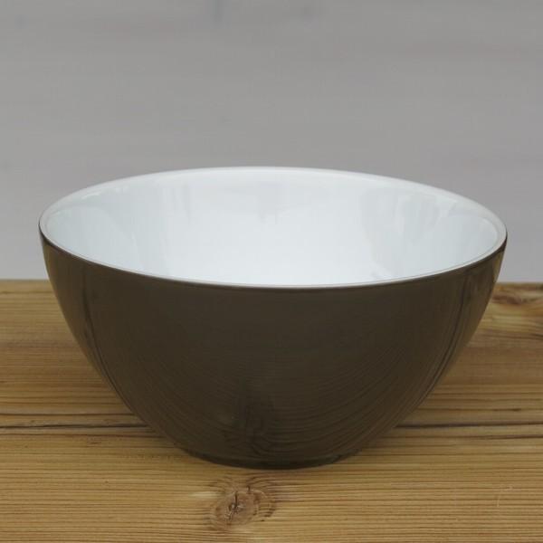 Arzberg Tric Schüssel 15 cm sepia braun rund Porzellan