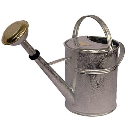 Gießkanne zink 9 l verzinkt Zinkgießkanne Metall feuerverzinkt