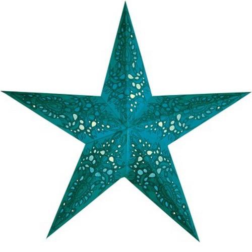 Starlightz Mono turquoise türkis Leuchtstern Papier Stern Lampe Weihnachtsstern