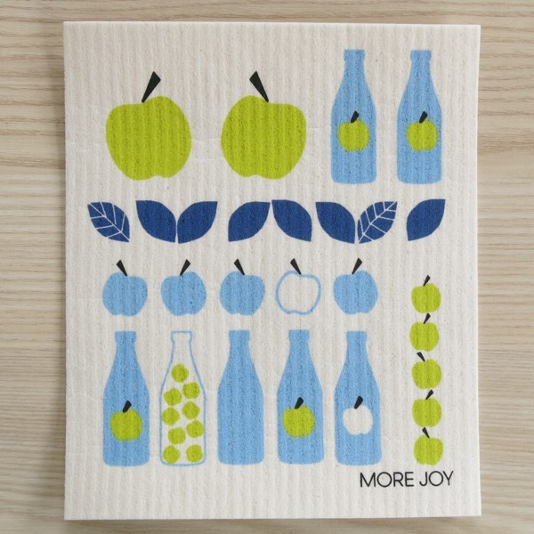 Spüllappen waschbar Apfel Saft blau More Joy Spültuch NEWSTALGIE