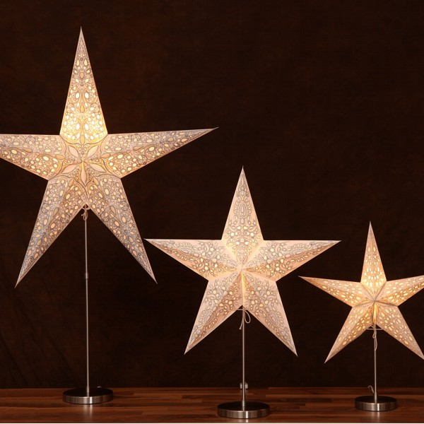 Starlightz Lampenfuß XL Tischständer Lampenständer Edelstahl