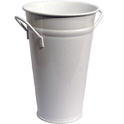 Vase weiß 55 cm Zink verzinkt Zinkvase Schirmständer Metall Blumenvase