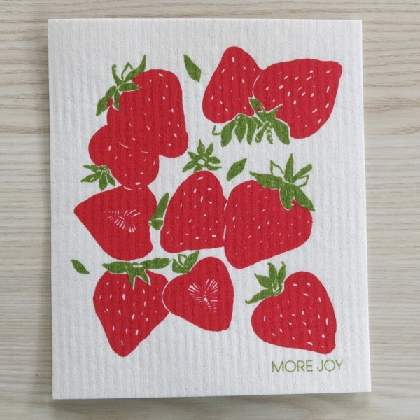 Spüllappen waschbar Erdbeere More Joy Spültuch Schwammtuch NEWSTALGIE