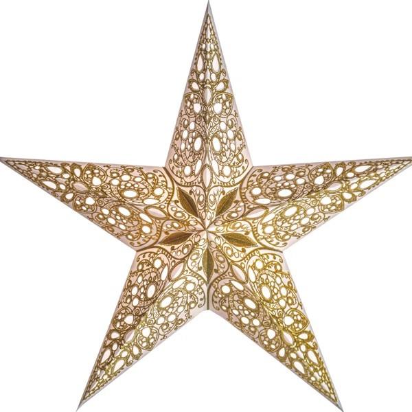 Starlightz Stern Raja gold 60 cm Papierstern Leuchtstern weiß