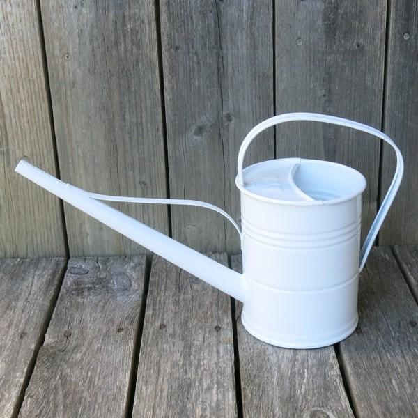 Gießkanne Zink weiß 1,5 l verzinkt Metall Zinkgießkanne