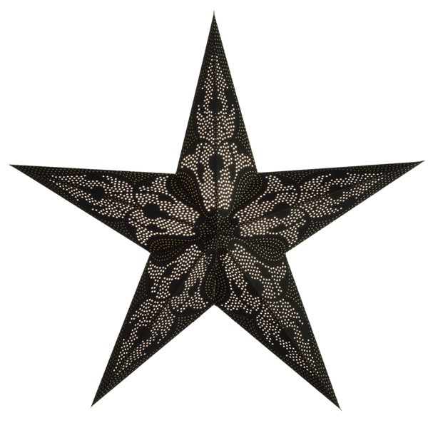 Starlightz Damaskus schwarz Leuchtstern Papier Stern Lampe