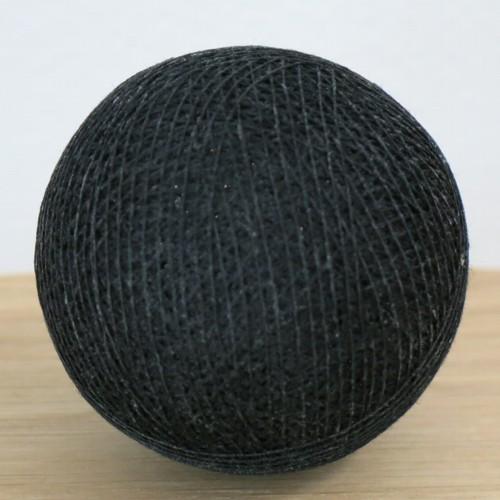 Cotton Ball Lights Kugel schwarz für Bälle Lichterkette Baumwolle