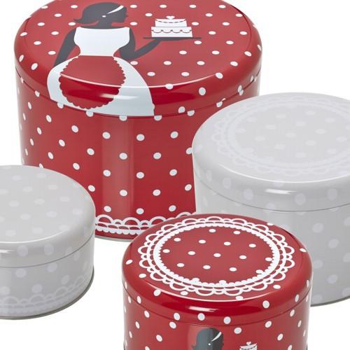 Plätzchendose Set Cake Couture 4 Stück Dose Keksdose Blechdose Gebäckdose Birkmann