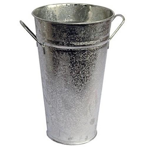 Vase verzinkt 30 cm Zink Zinkvase Metall Blumenvase